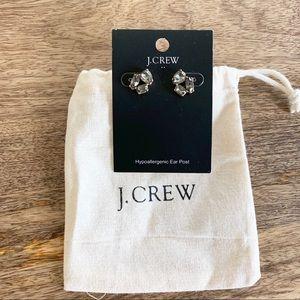 J. Crew Smokey Stone Stud Earrings - NWT & Pouch